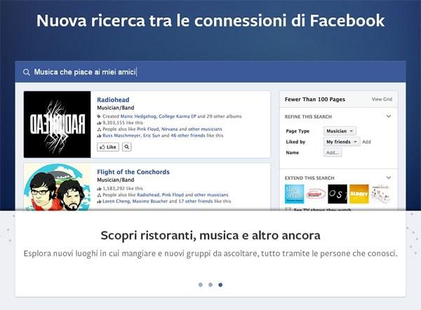 Nuova ricerca Facebook!