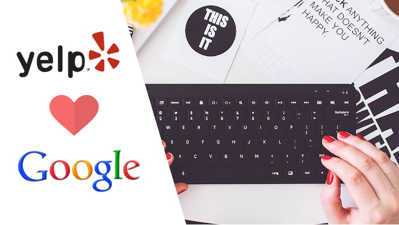 Yelp e Google
