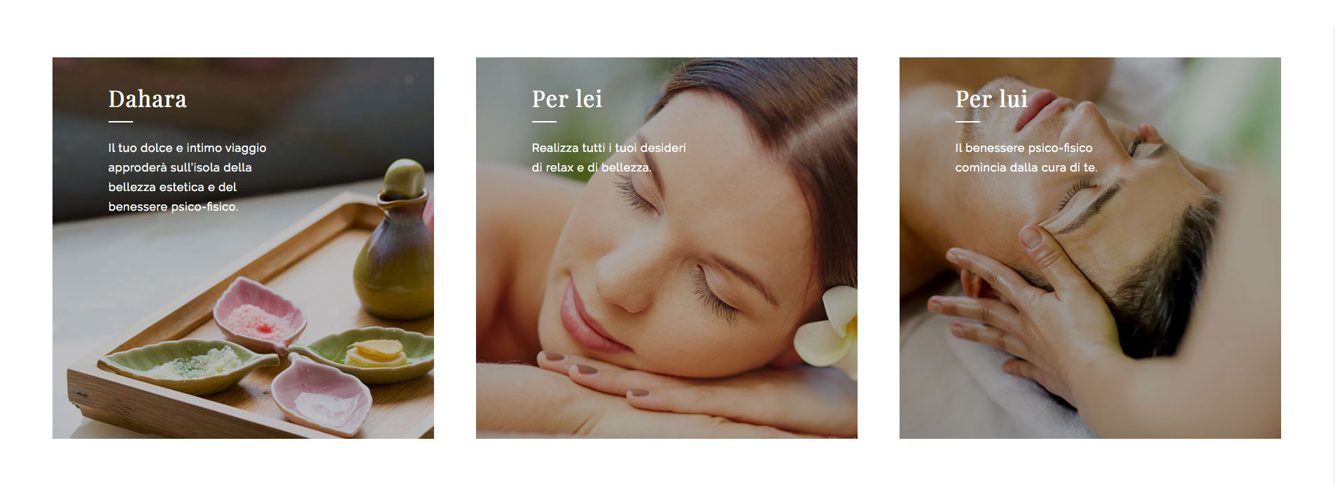 GSite web agency ticino Centro estetico Dahara sito web