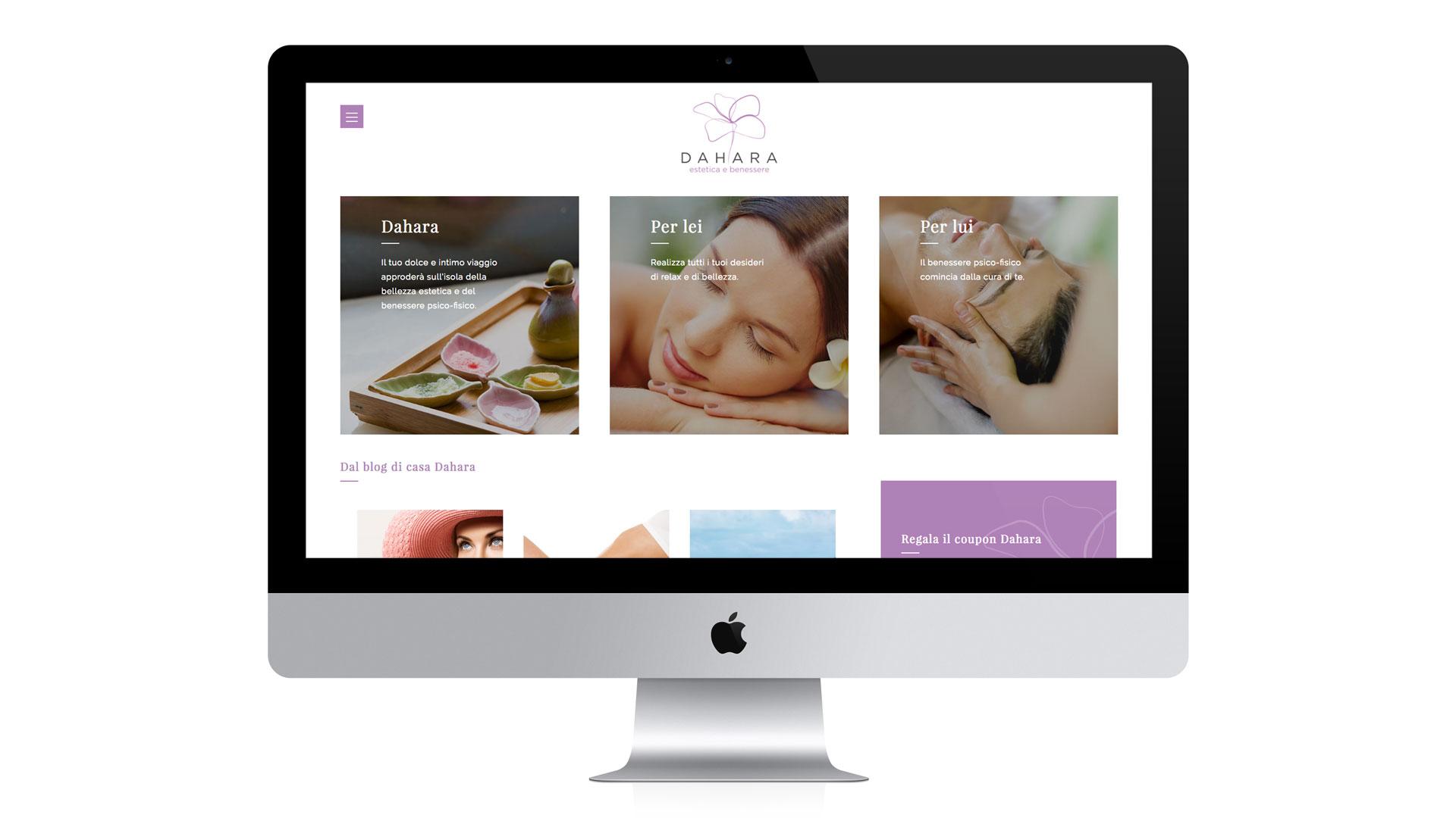 Realizzazione sito web centro estetico Dahara Lugano