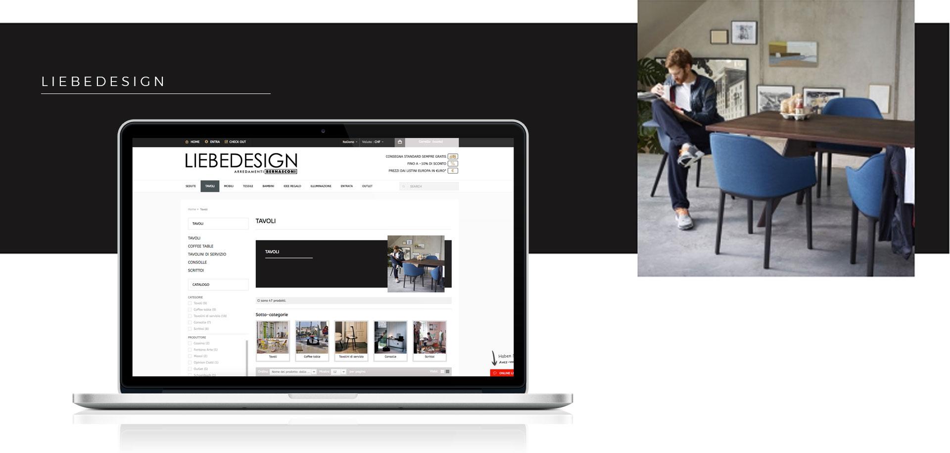 GSite pagina prodotti Liebedesign