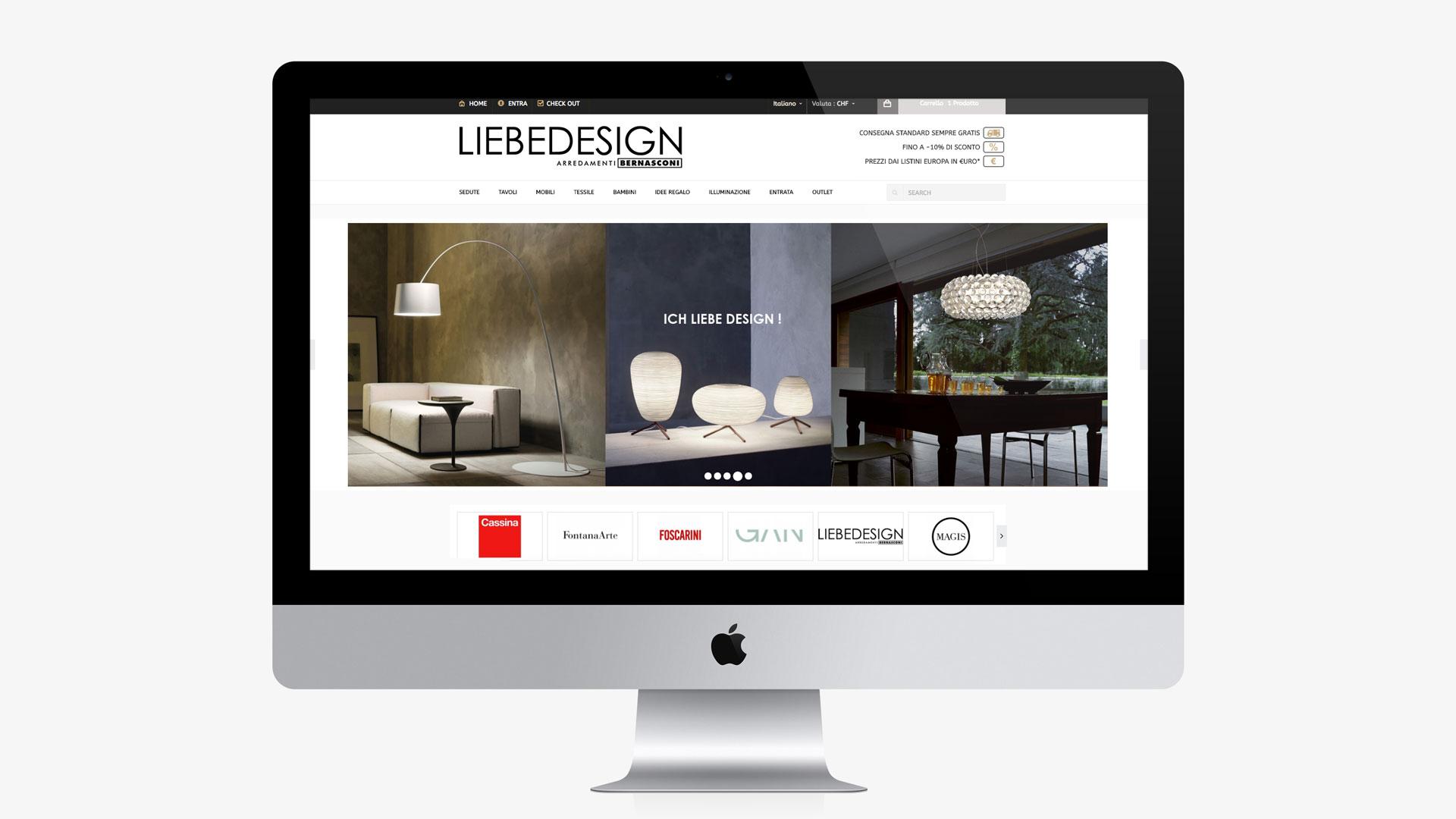 GSite sviluppo sito ecommerce liebedesign
