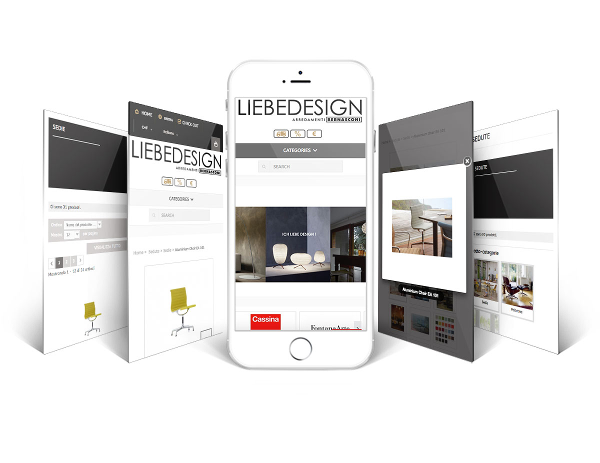 GSite versione mobile ecommerce Liebedesign