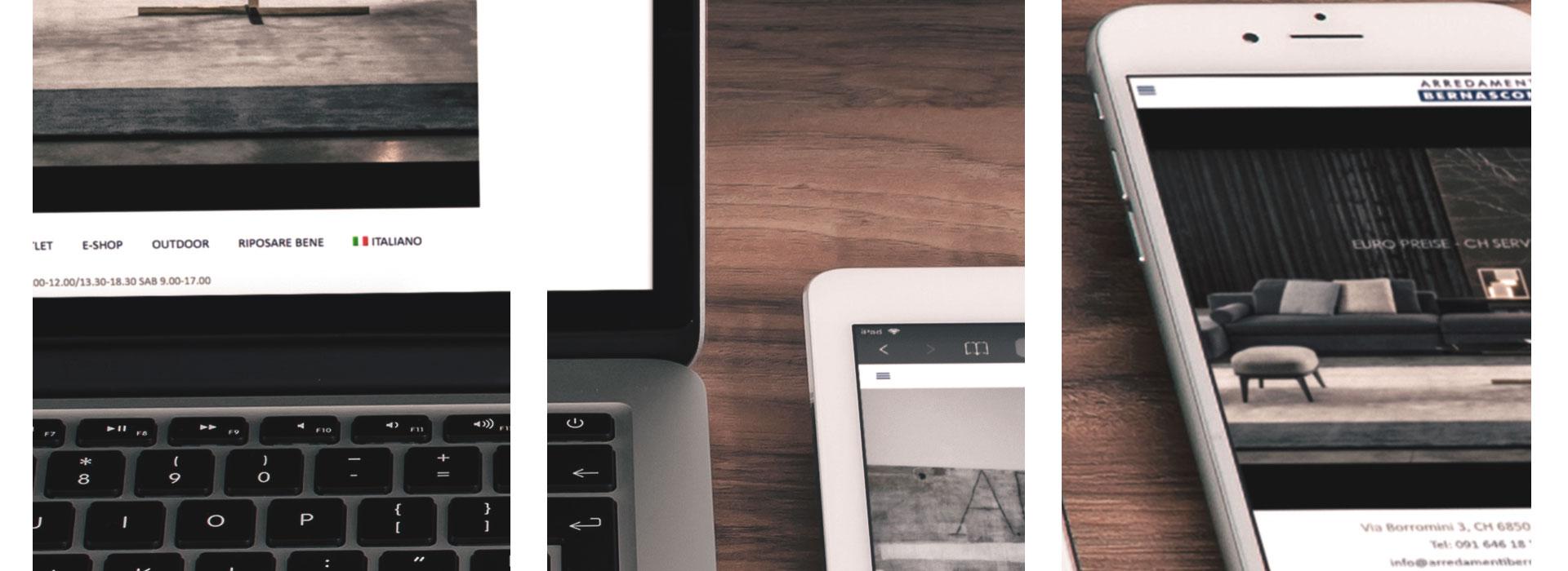 Realizzazione sito web per negozi di arredamento in ticino for Siti di arredamenti