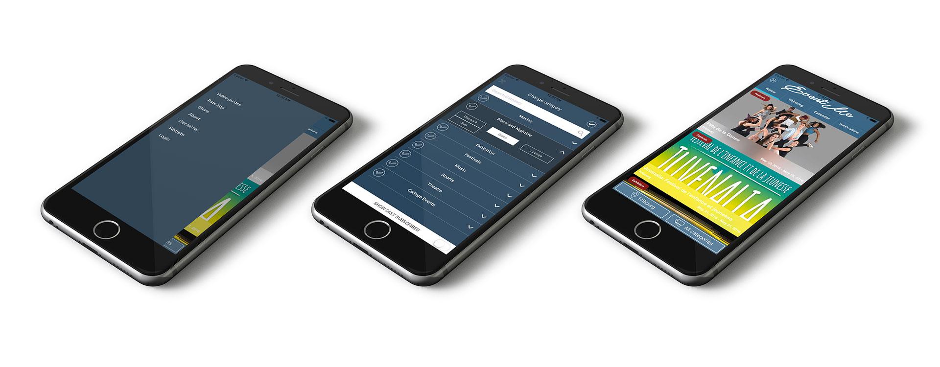 Event Me App device