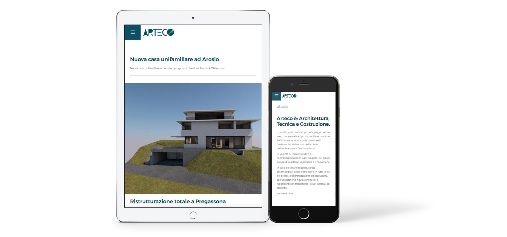 GSite realizzazione web site Arteco responsive