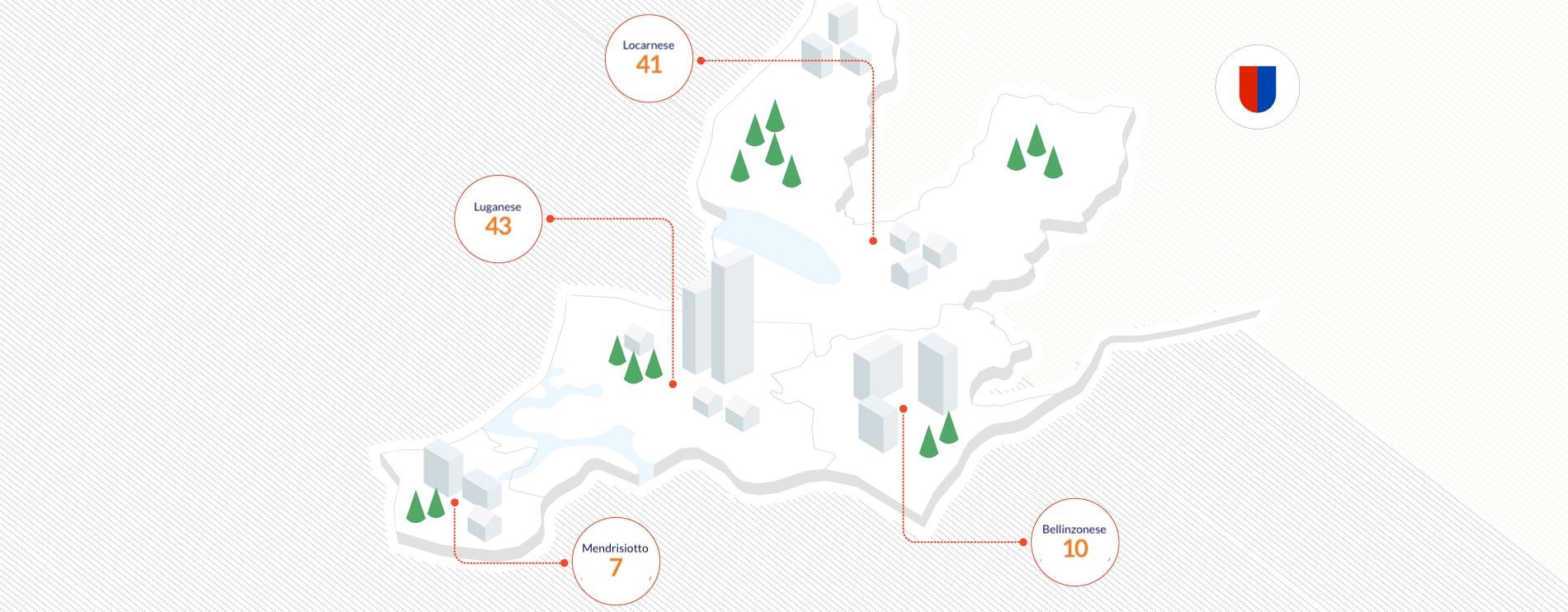 Mappa Ticino Job Contact