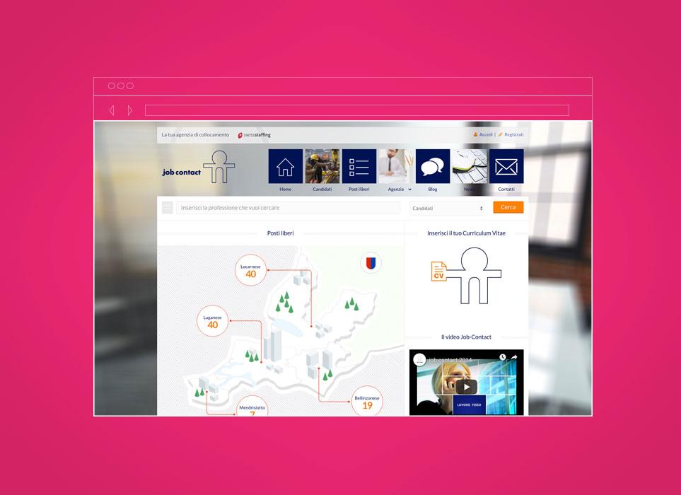 gsite progetto sito web ticino, Job Contact