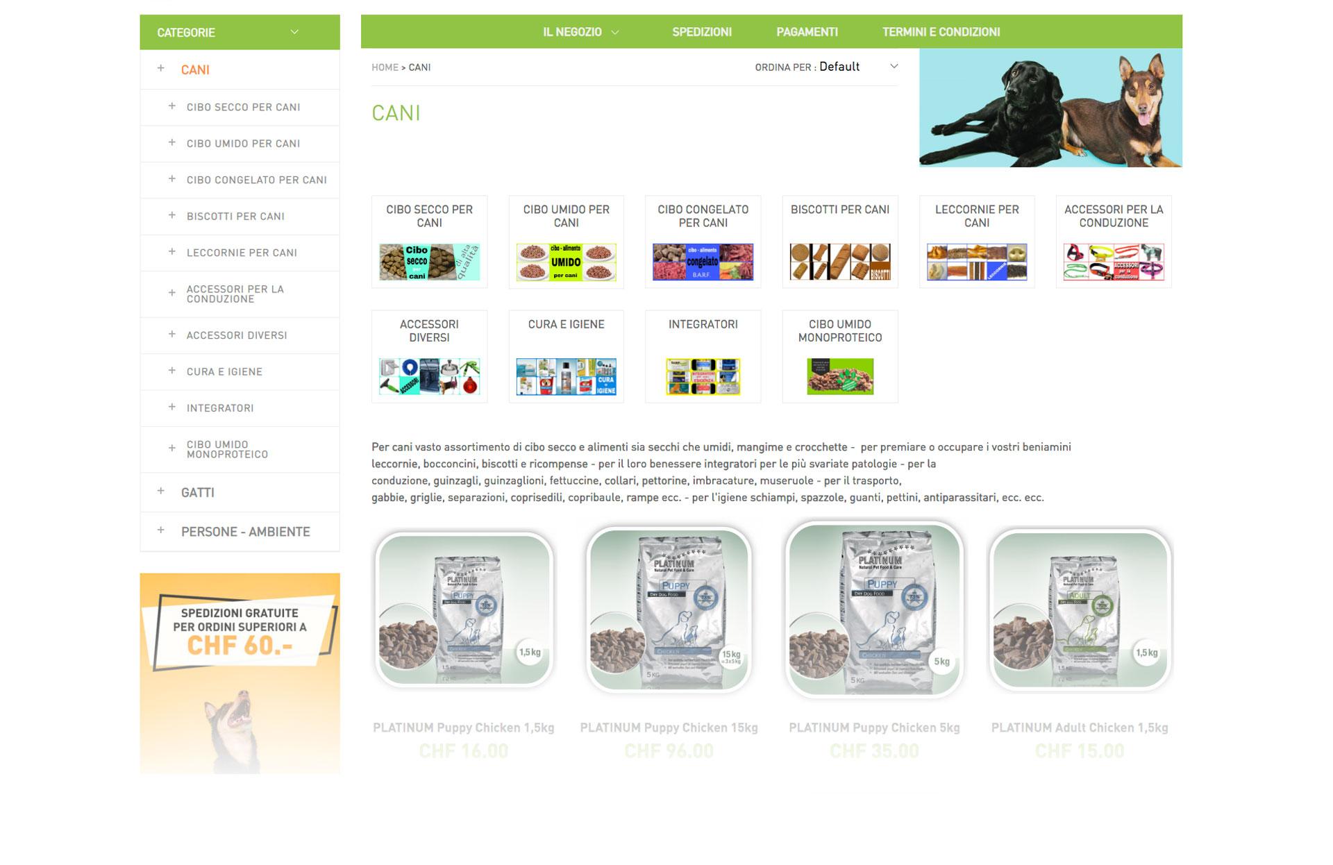GSite Progetti Ecommerce Interfood pagina prodotti