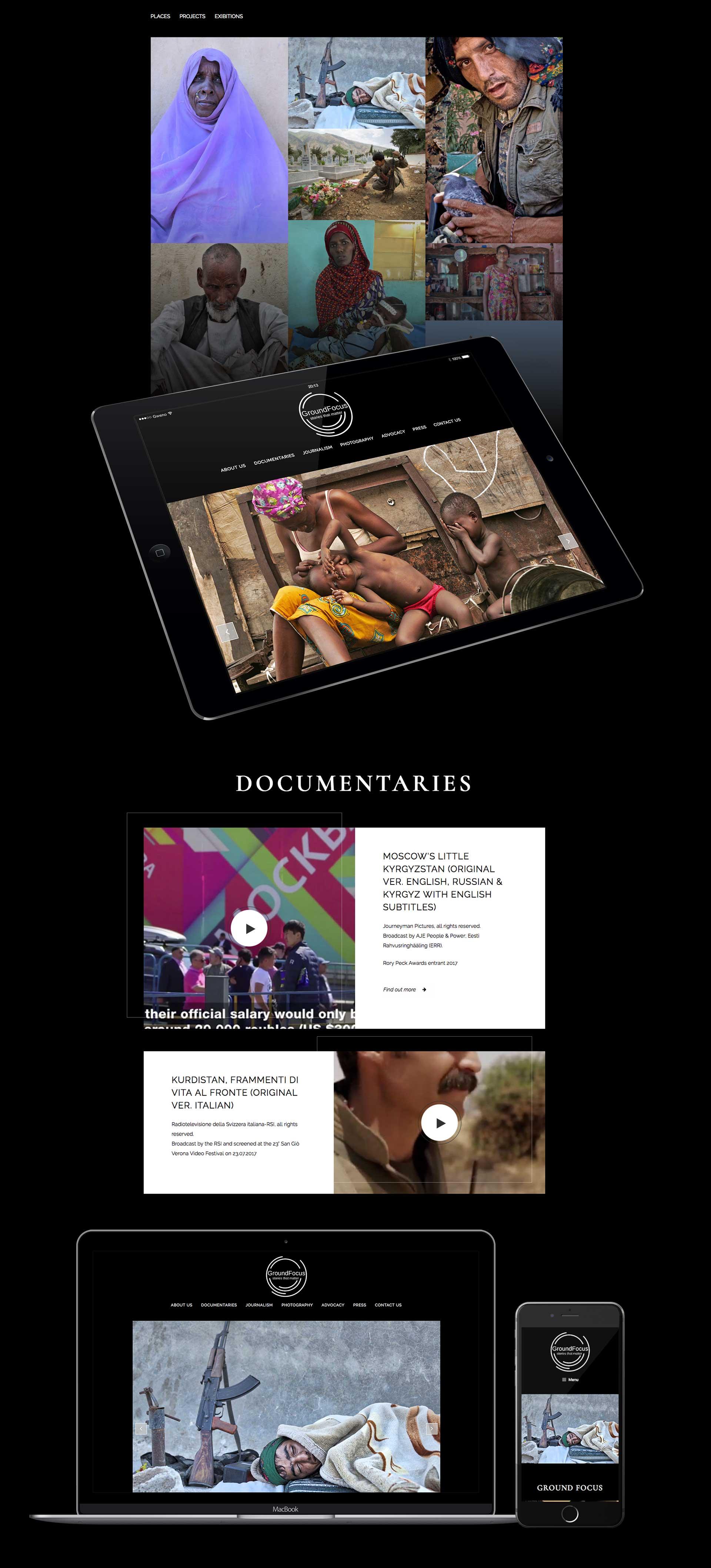 Sviluppo sito web no-profit reportage e inchieste