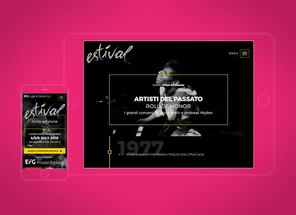 gsite sviluppo siti web Lugano progetto festival Jazz a Lugano