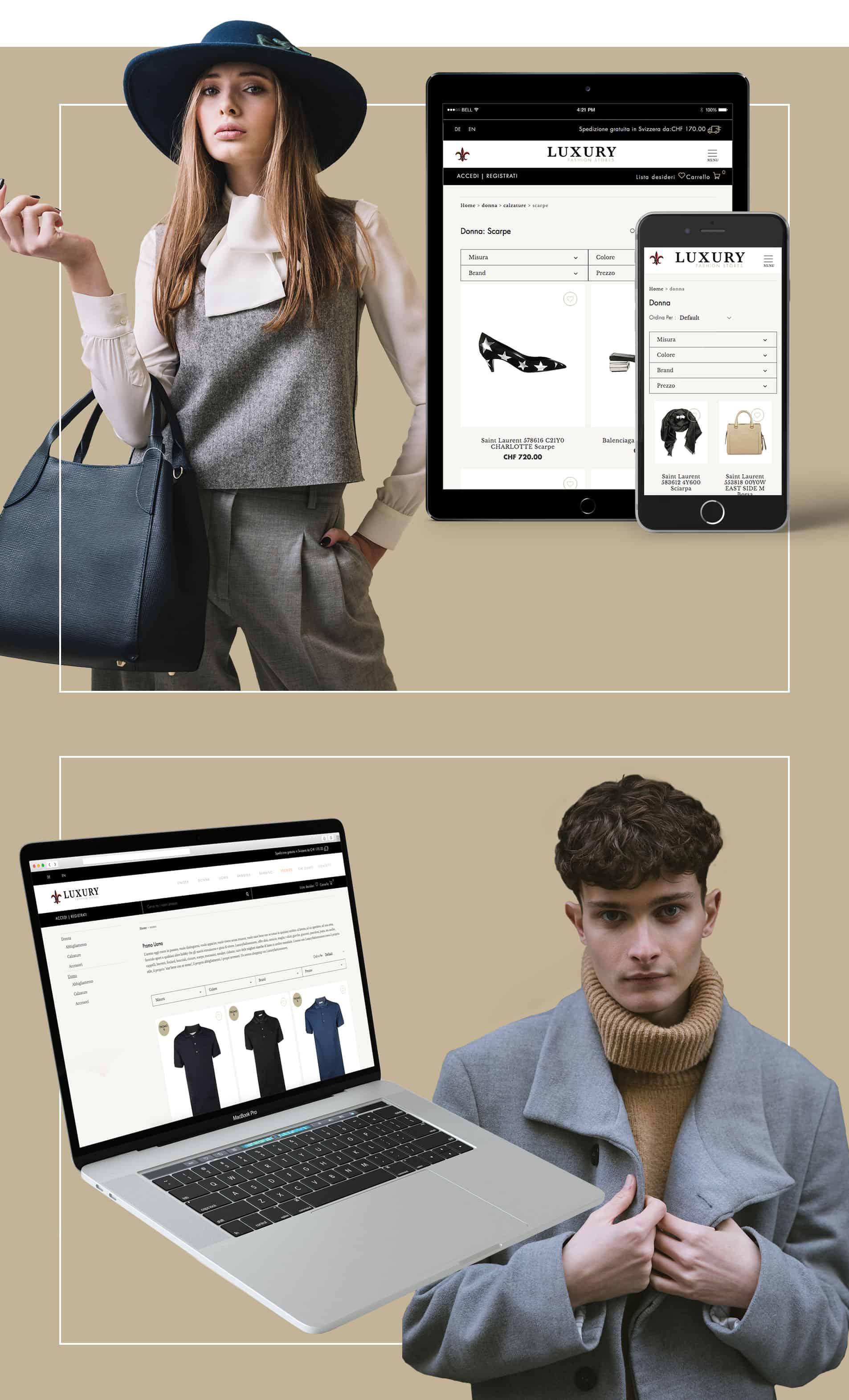 Sviluppo progetto Luxury Fashion Stores