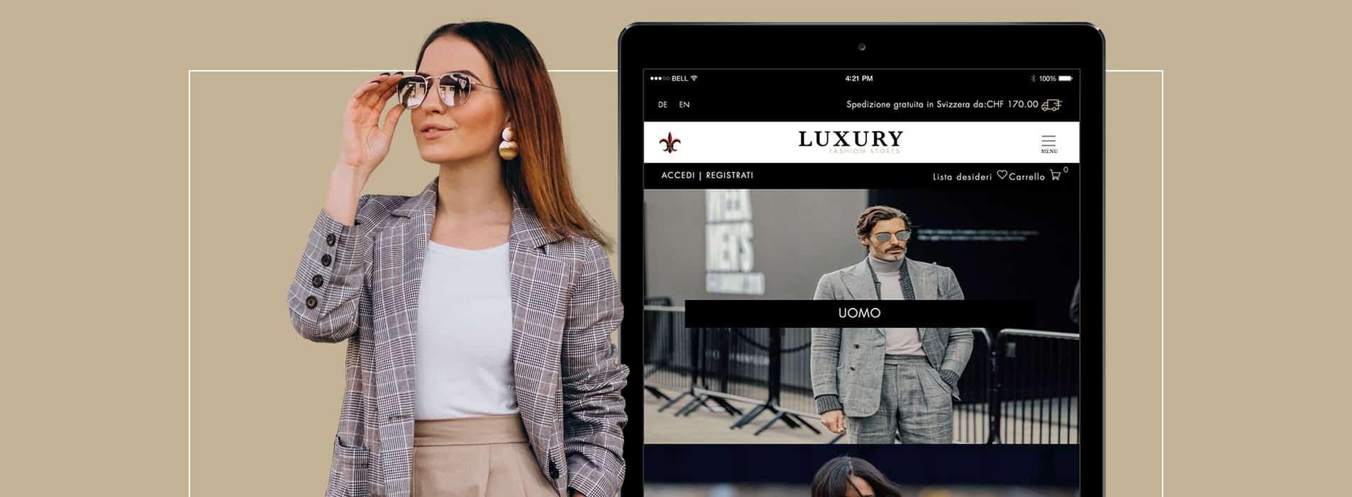 Luxury Fashion Stores e-commerce Ticino
